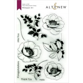 Wallpaper Art Stamp Set - Timbro di Altenew