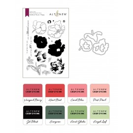 Build-A-Flower: Poppy & Ink Bundle -  Timbro, fustella e 2 inchiostri di Altenew