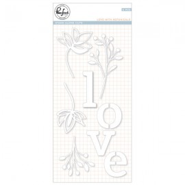 Love with botanicals die set - Fustella di Pinkfresh Studio