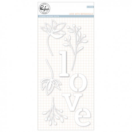Love with botanicals die set - Fustella di Pinkfresh Studio