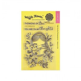 """Thinking of You"" Stamp Set - Timbro di Waffle Flower"