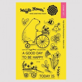 """Happy Day"" Stamp Set - Timbro di Waffle Flower"