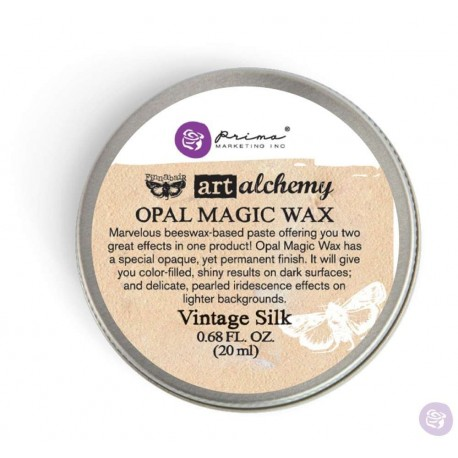 Opal Magic Wax Art Alchemy by Finnabair Prima Marketing - Vintage silk