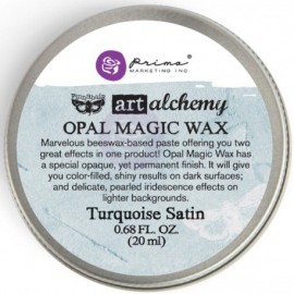 Opal Magic Wax Art Alchemy by Finnabair Prima Marketing - Turquoise Satin