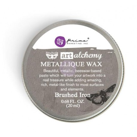 "Metallique Wax Art Alchemy by Finnabair Prima Marketing - ""Brushed Iron"""