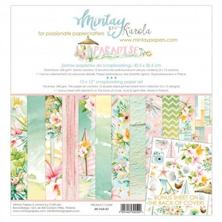 """Carta per scrapbooking di Mintay by Karola -  """"Paradise"""""""