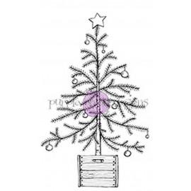Christmas Tree in Crate - Timbro di Stacey Yacula Studio