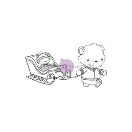 Bears with sled - Timbro di Stacey Yacula Studio