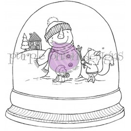 Winter Friends (snow globe) - Timbro di Stacey Yacula Studio