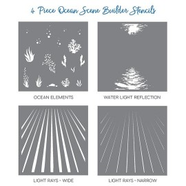 Ocean Scene  Builder Stencils - di Honey Bee Stamps