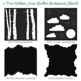 Outdoor Scene Builder Stencils - di Honey Bee Stamps