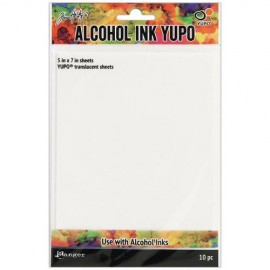 Ranger Ink - Tim Holtz - Alcohol Ink Yupo Paper - Translucent - 10 Pack
