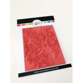 Climbing Flowers Background Stamp - Timbro di Catherine Pooler