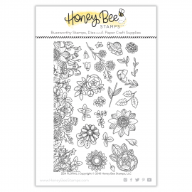 Zen Floral - Timbro di Honey Bee Stamps