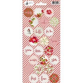 Sticker sheet Rosy Cosy Christmas 03