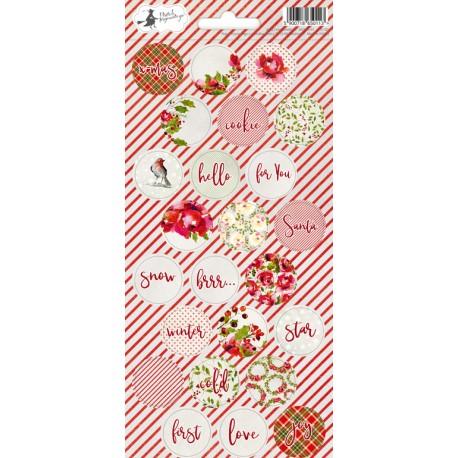 Sticker sheet Rosy Cosy Christmas 03