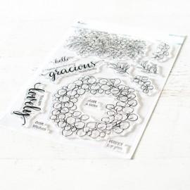 Eucalyptus fantasy stamp set - Timbro di Pinkfresh Studio