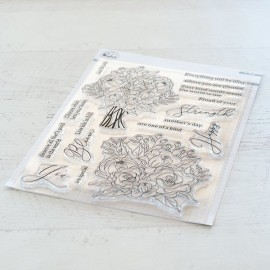 Blooming bouquet stamp set - Timbro di Pinkfresh Studio
