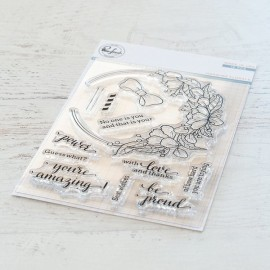 Blooming bouquet stamp - timbro di Pinkfresh Studio