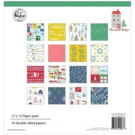 Carta per scrapbooking di Pinkfresh Studio - Home for the Holidays 12 x 12