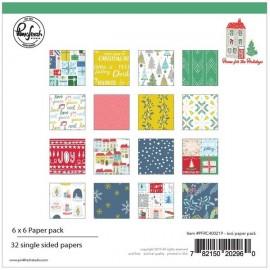 Carta per scrapbooking di Pinkfresh Studio - Home for the Holidays 6 x 6