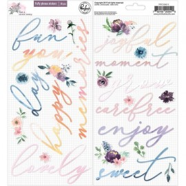 Just a little lovely - Puffy phrase stickers