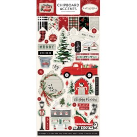 Christmas Market - 6x13 Chipboard Accents