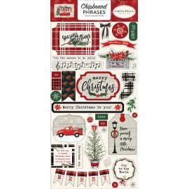 Christmas Market - 6x13 Chipboard Phrases