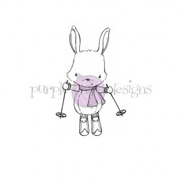 Ember  Skiing Bunny - Timbro di Stacey Yacula Studio