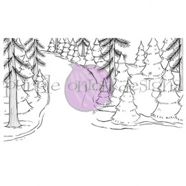 Winter Trail Background - Timbro di Stacey Yacula Studio