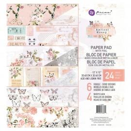 """Paper pad di Prima Marketing -  Apricot Honey 12""""x12"""""""