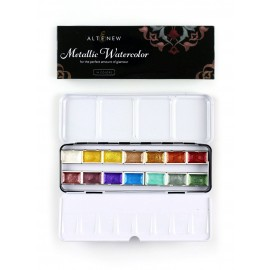 Metallic Watercolor 14 Pan Set