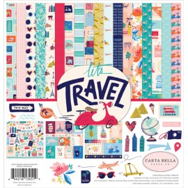Carta per scrapbooking di Echo Park Paper -Let's travel