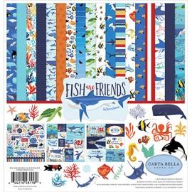 Carta per scrapbooking di Echo Park Paper - Fish are Friends