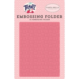 Embossing Folder di Echo Park Paper - Let's travel