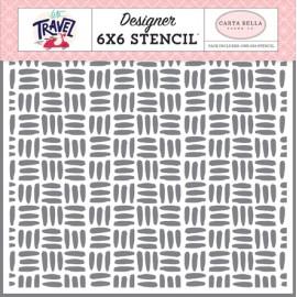 Stencil Explore 6x6 - Let's travel