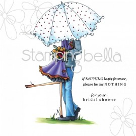 Emily and Ryan under the Umbrella - timbro di Stamping bella