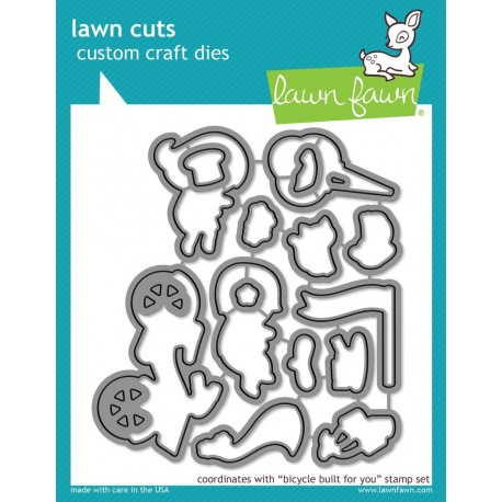 Bicycle built for you  lawn cuts - Fustelle Lawn Fawn