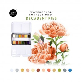 Watercolor Confections -  Decadent Pies di Prima Marketing
