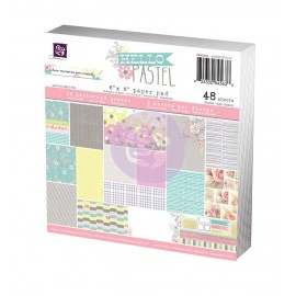 "Carta per scrapbooking di Prima Marketing formato 15 X15 cm ""Hello Pastel"""