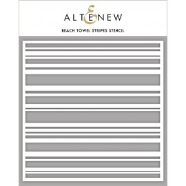 Beach Towel Stripes Stencil di Altenew