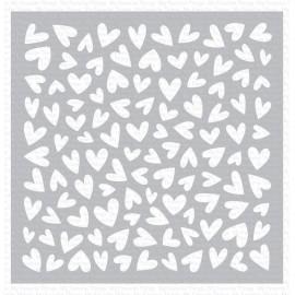 """Stencil di  MFT  - """"Lots of Heart"""""""