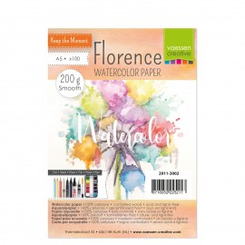 Florence • Watercolor paper Smooth White A5 100pcs 200g