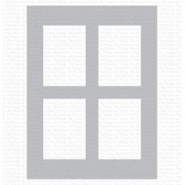 "Stencil di  MFT  - ""Window Panes"""