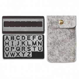 Magnetic stencils Alphabet - di We R Memory keepers