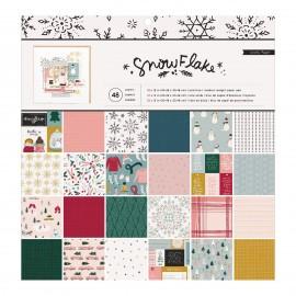"""Carta di Crate Paper -  """"Snowflake paper pad"""" 12x12"""