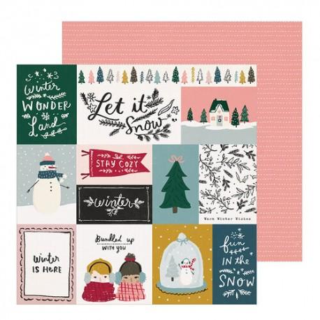 Foglio di Carta di Crate Paper -  Snowflake paper
