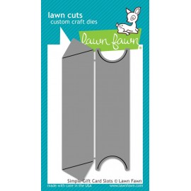 Simple gift Card Slots - Fustelle Lawn Fawn
