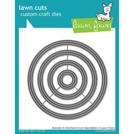 Outside in stitched Circle Stackables - Fustelle Lawn Fawn