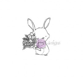 Junie (Bunny with Bouquet) - Timbro di Stacey Yacula Studio
